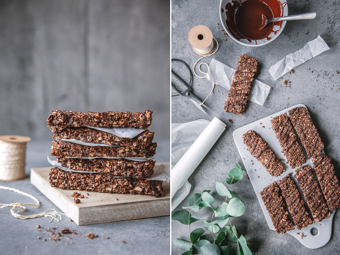 Schokoladen-Knusperriegel