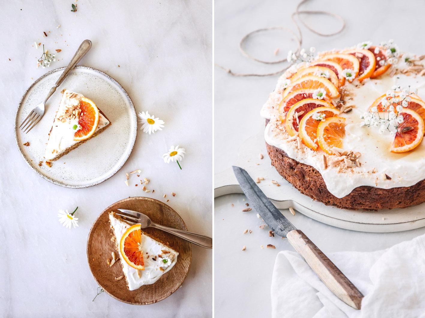 Saftiger Orangen-Karottenkuchen