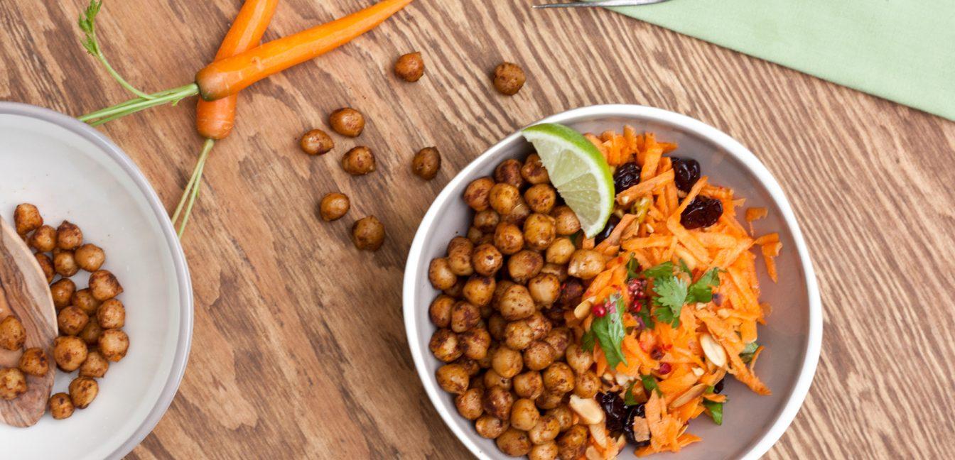 Möhrensalat mit Kichererbsen und Tofu – oder auch nicht