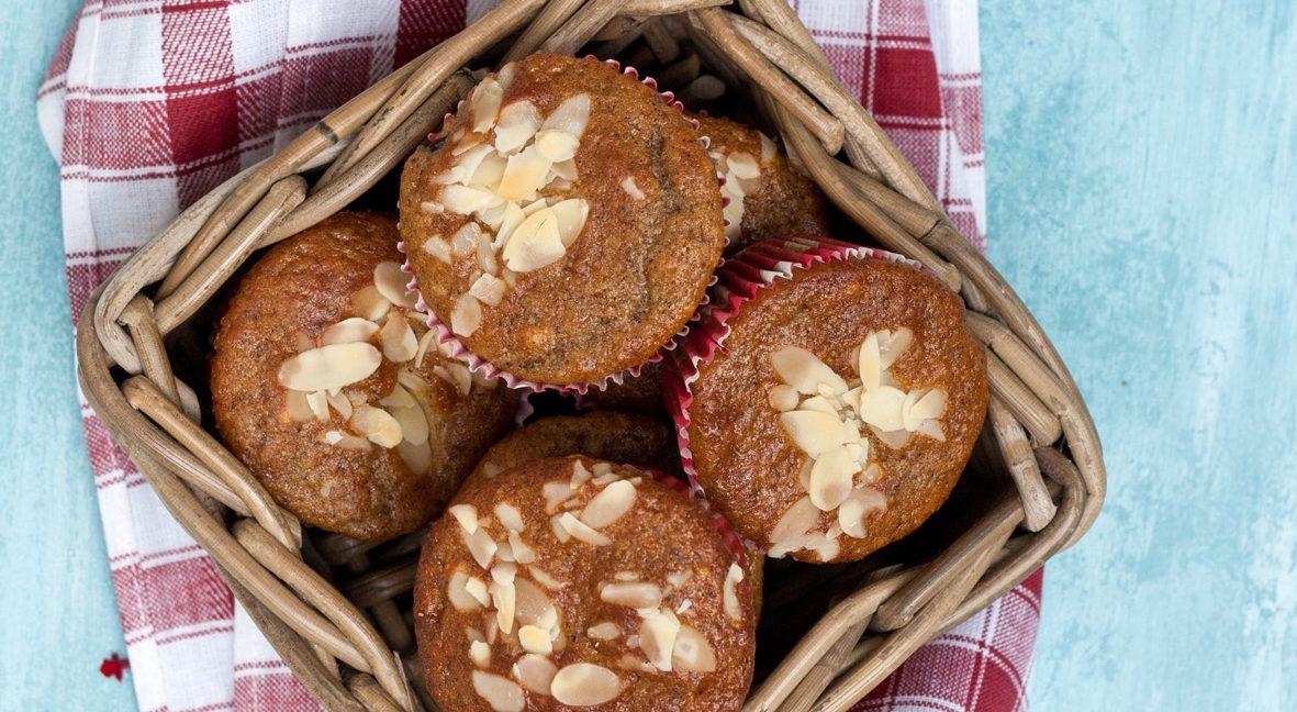 Pfirsich-Sahnetoffee-Muffins
