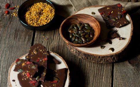 Herbstliche Superfood Schokolade