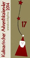 Rosen-Plätzchen im Kulinarischen Adventskalender: Türchen Nr. 17