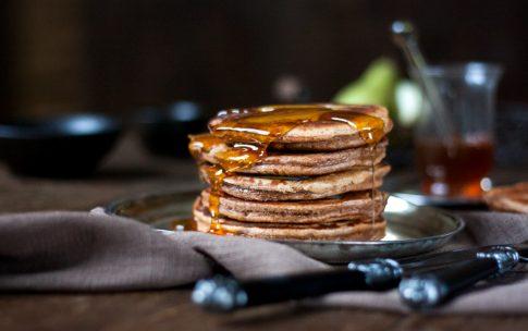 Kastanienpancakes mit Birnen