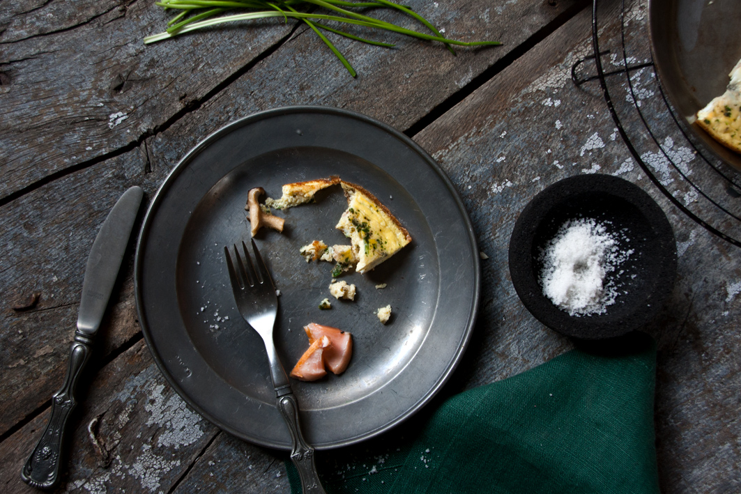 pilz omelette lachs gabel
