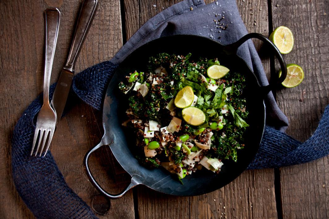 Quinoa Grünkohl Detox Salat