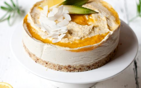 Raw Coconut Mango Cheesecake
