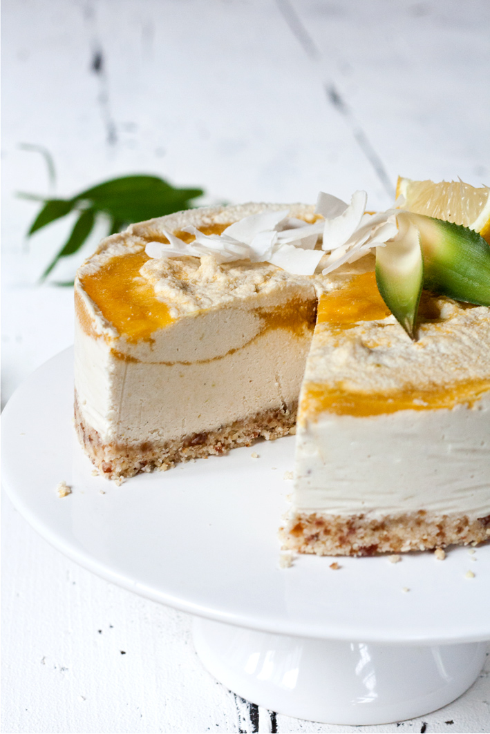raw cheesecake mango