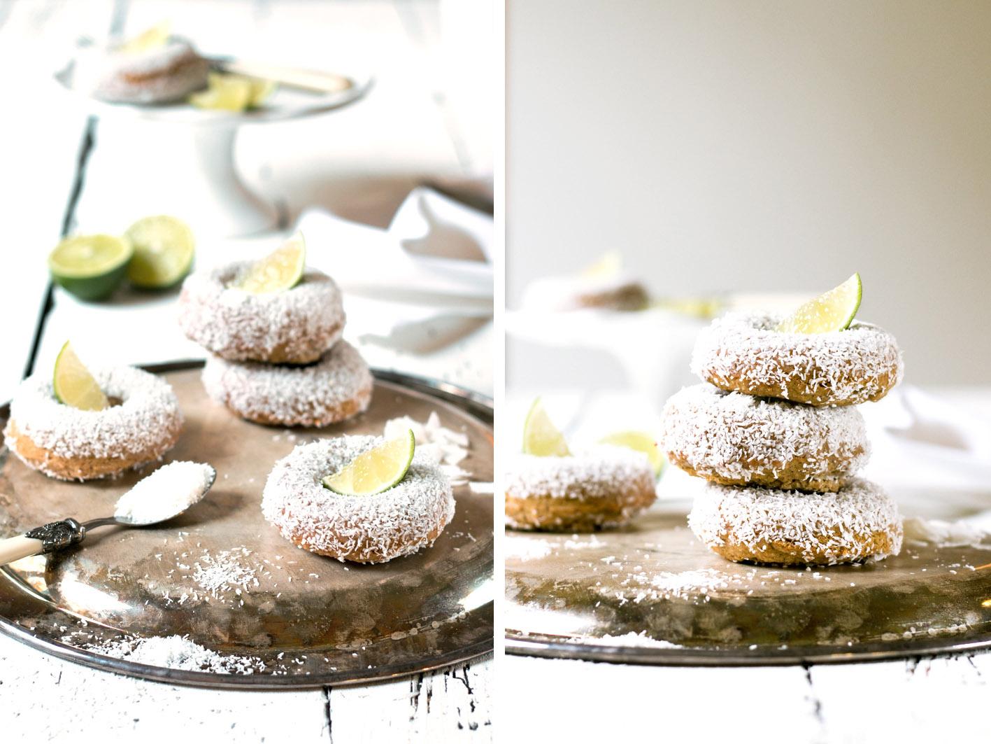 kokos limetten donuts zuckerfrei