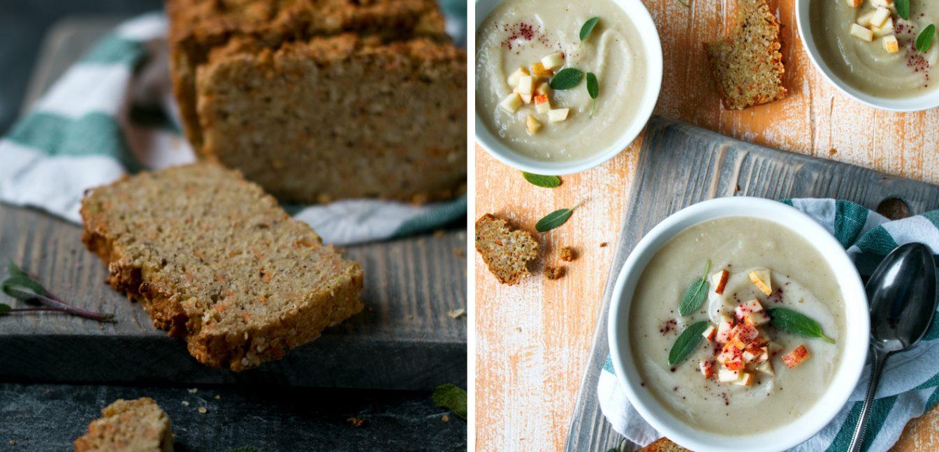 Apfel-Sellerie-Suppe mit fantastischem Hirsebrot