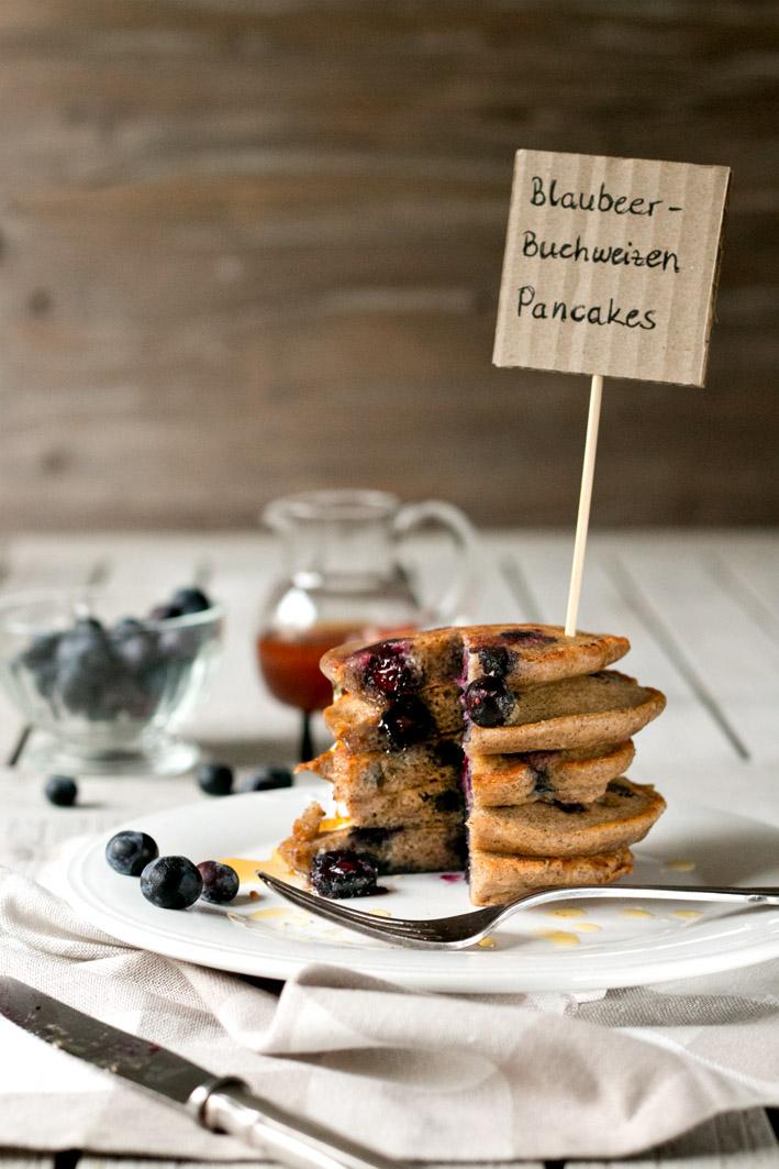 blaubeer buchweizen pancakes