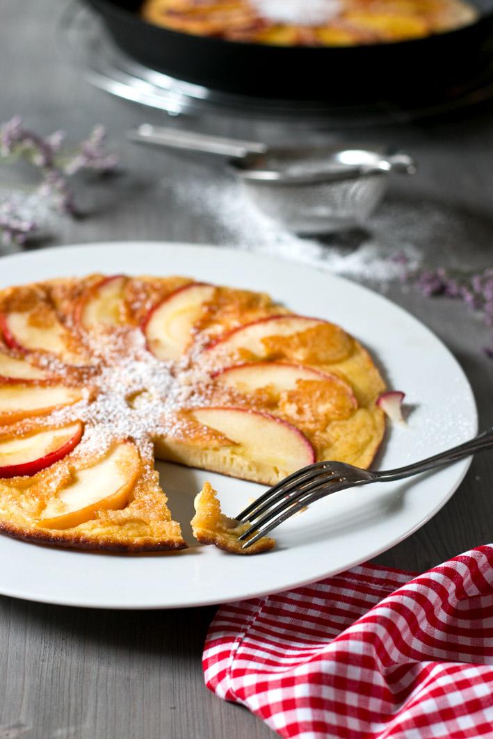 apfelpfannkuchen gabel