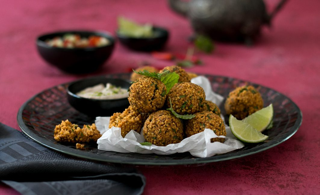 orientalische hirse falafel