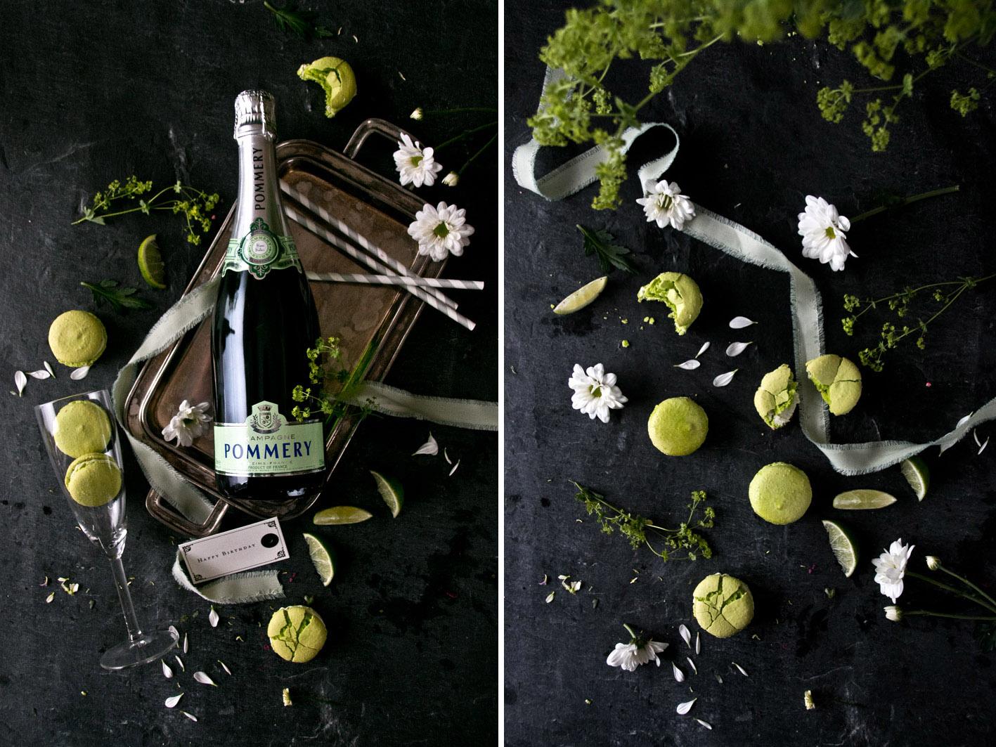 limetten champagner macarons