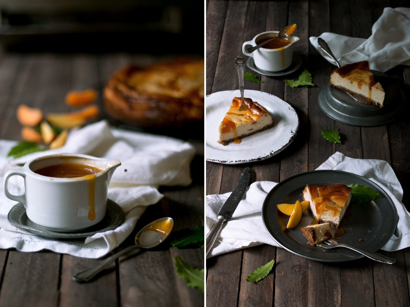 aprikosen sauce cheesecake