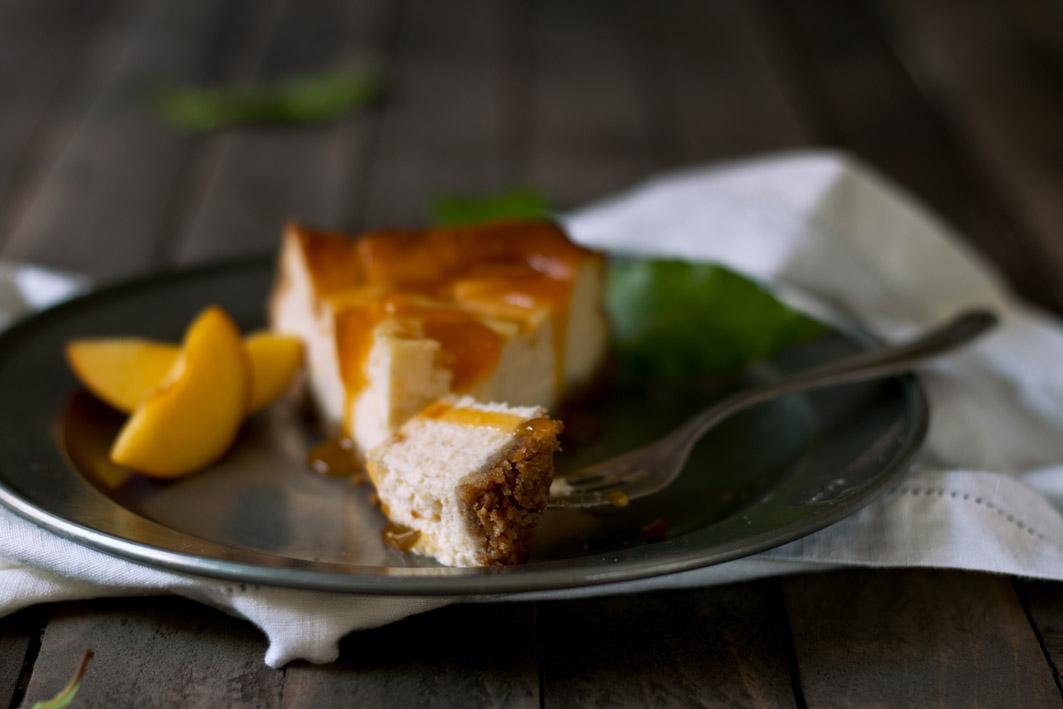 marillen cheesecake gabel