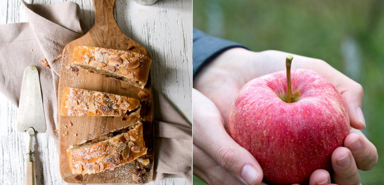 Südtiroler Apfelstrudel mit Mürbeteig