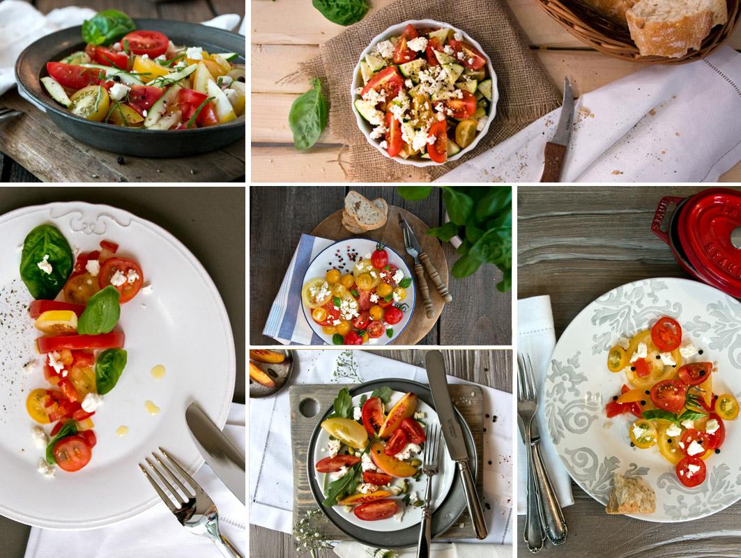 foodstyling tomatensalat
