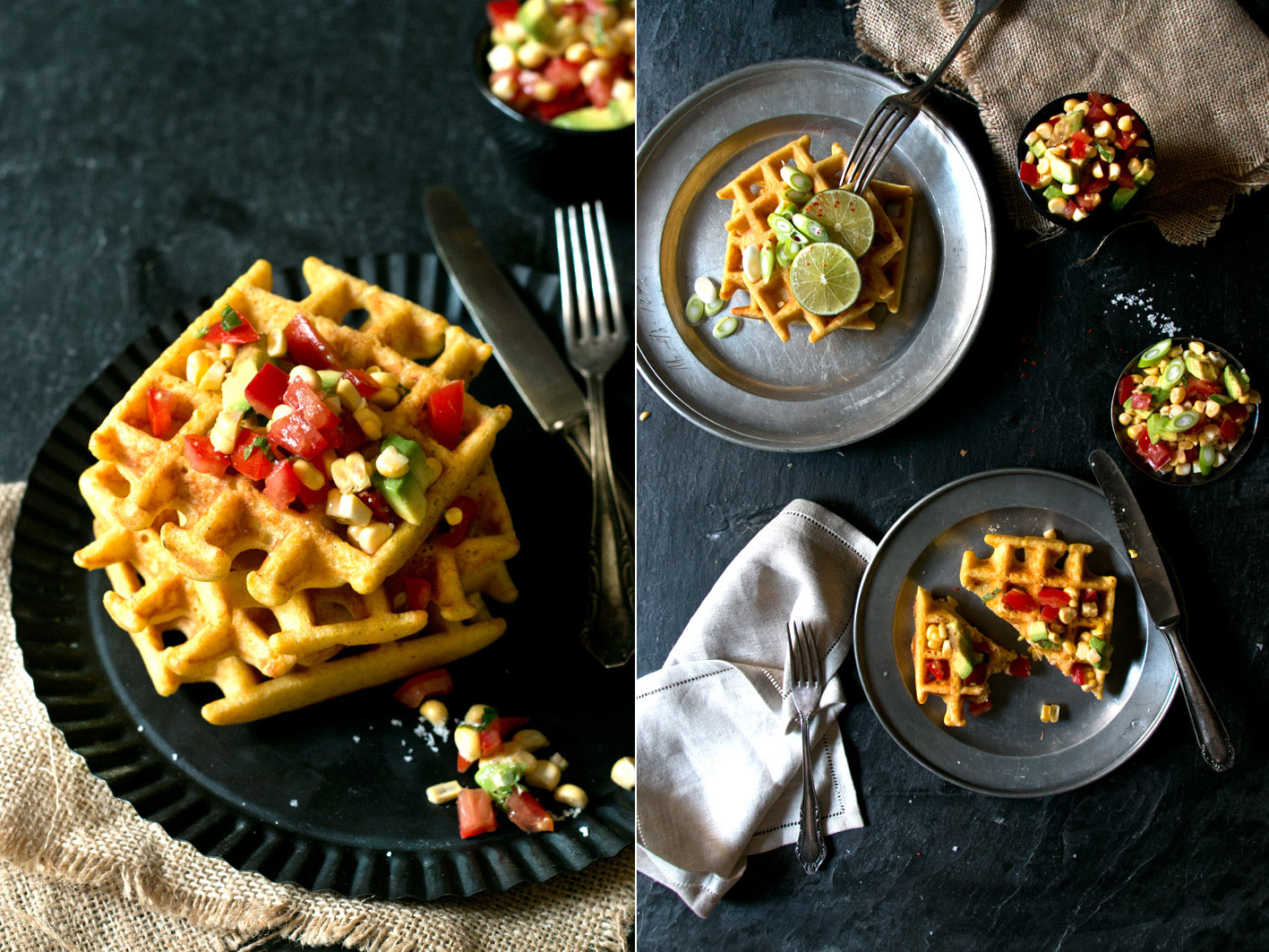 polenta waffeln guacamole