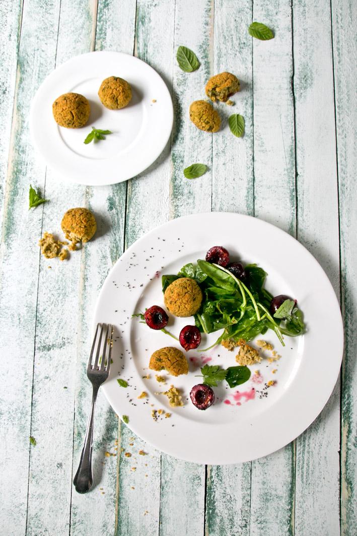 selbst gemachte falafel salat