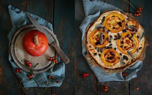 Urlaubserinnerungen: Dinkel-Kürbis-Pizza mit Scamorza