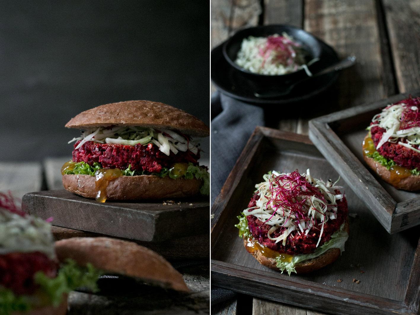 veggie burger rote bete