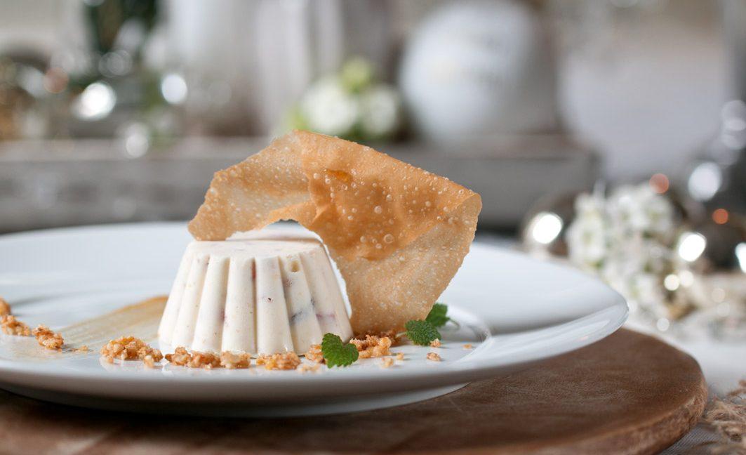 Weihnachtsmenü: Dessert – Apfelstrudelparfait.