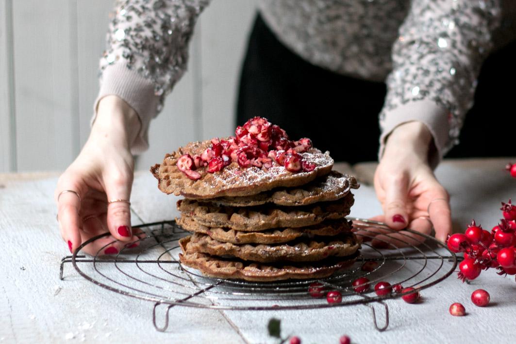 cranberry waffeln