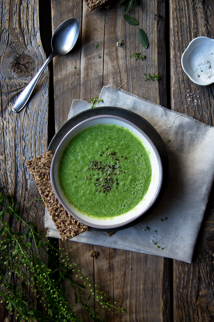 vegane brokkolisuppe