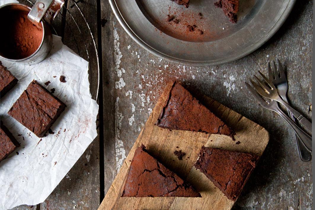 brownie mit kakao