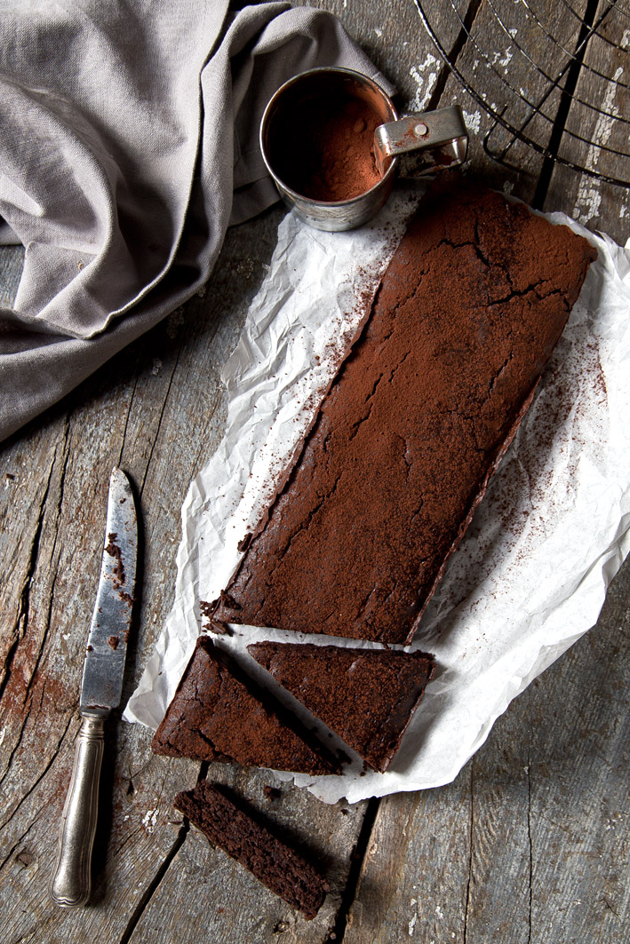 brownie mit apfelmus