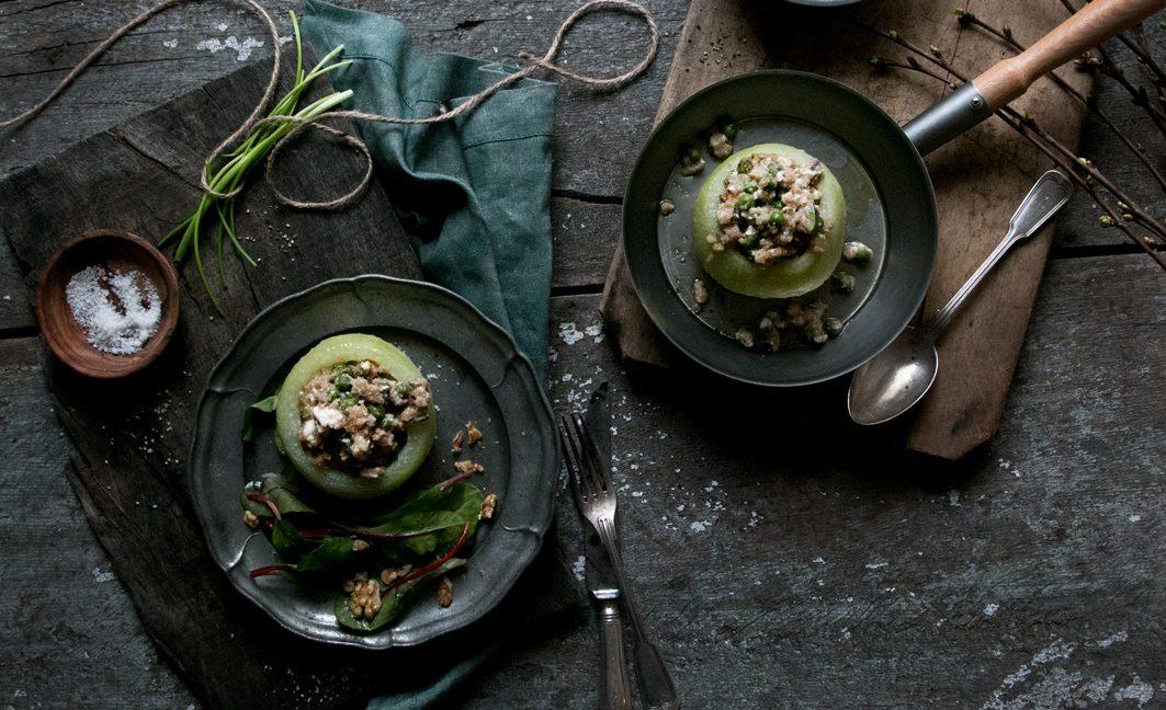 gefüllte Kohlrabi mit amaranth