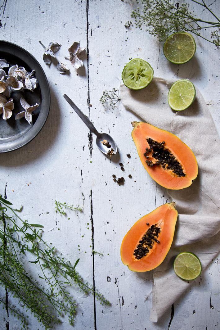 papaya und limette
