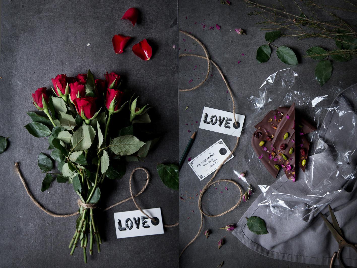 Schokolade und rosen