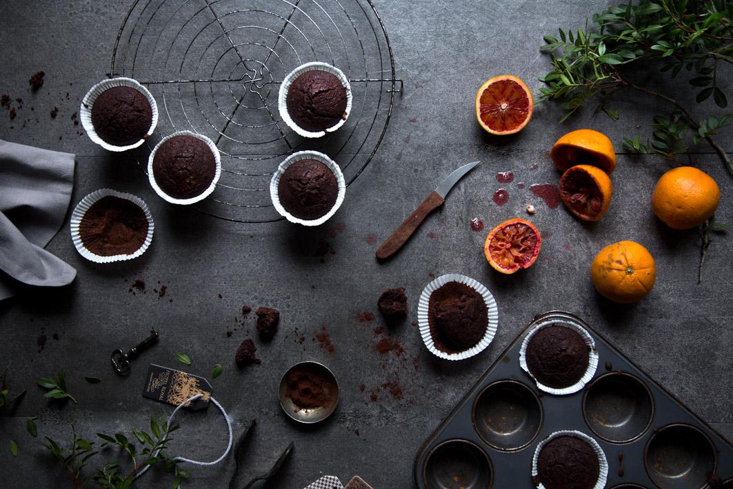 schokoladenmuffins mit orange