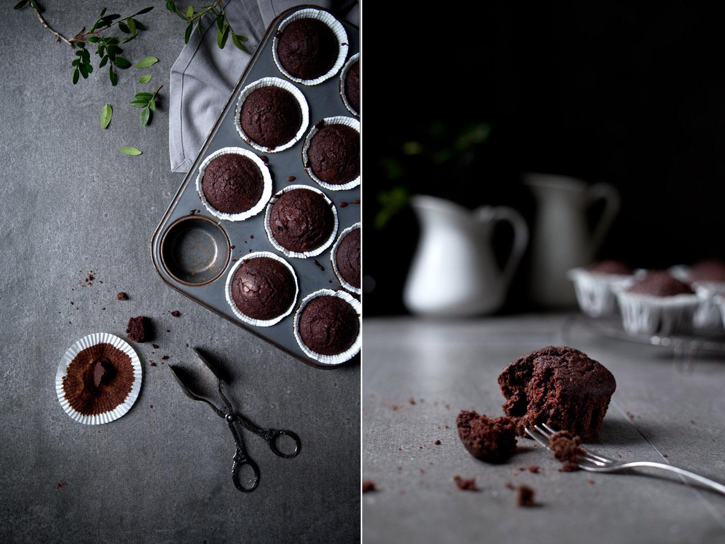 gesunde schokoladenmuffins