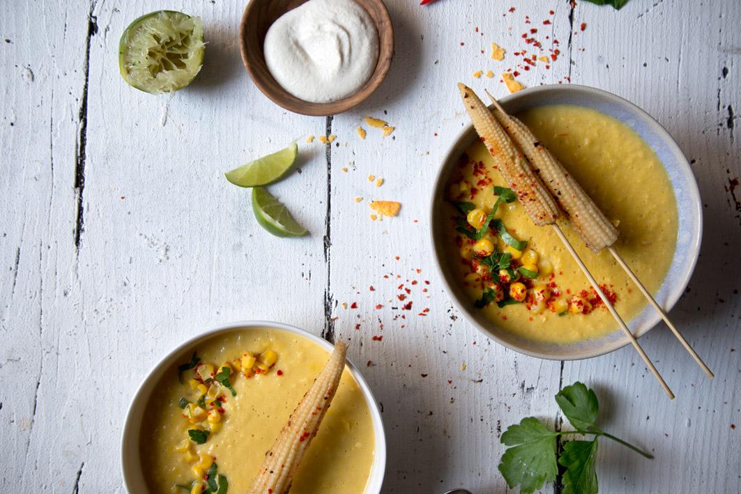 maissuppe mit tortillas
