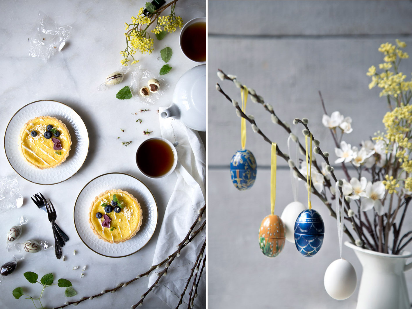 osterstrauß mit eiern