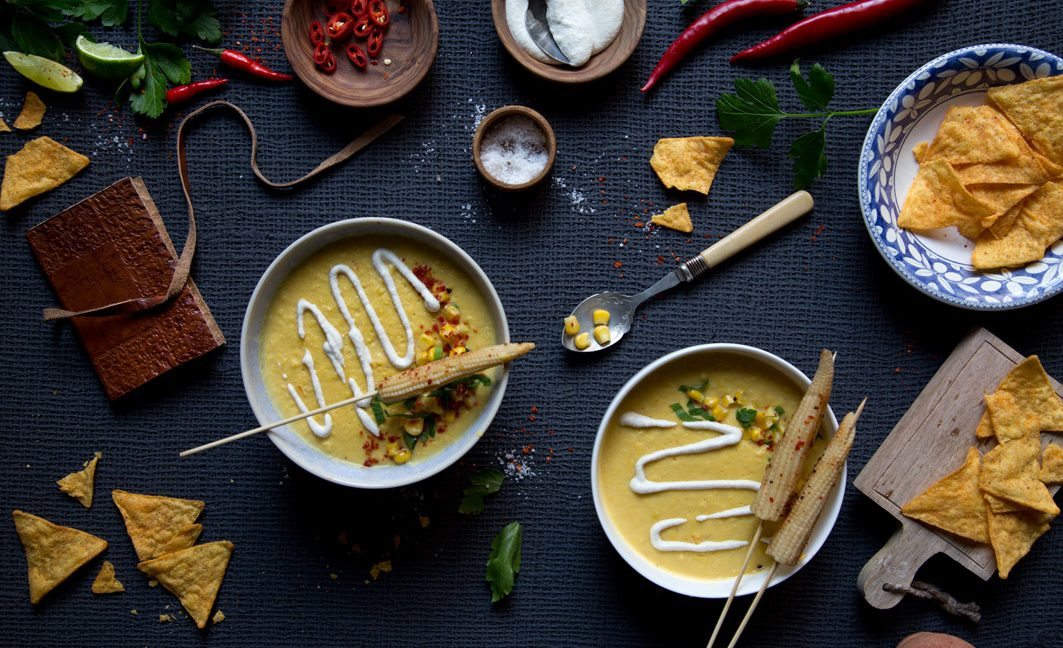 Mexikanische Maissuppe –