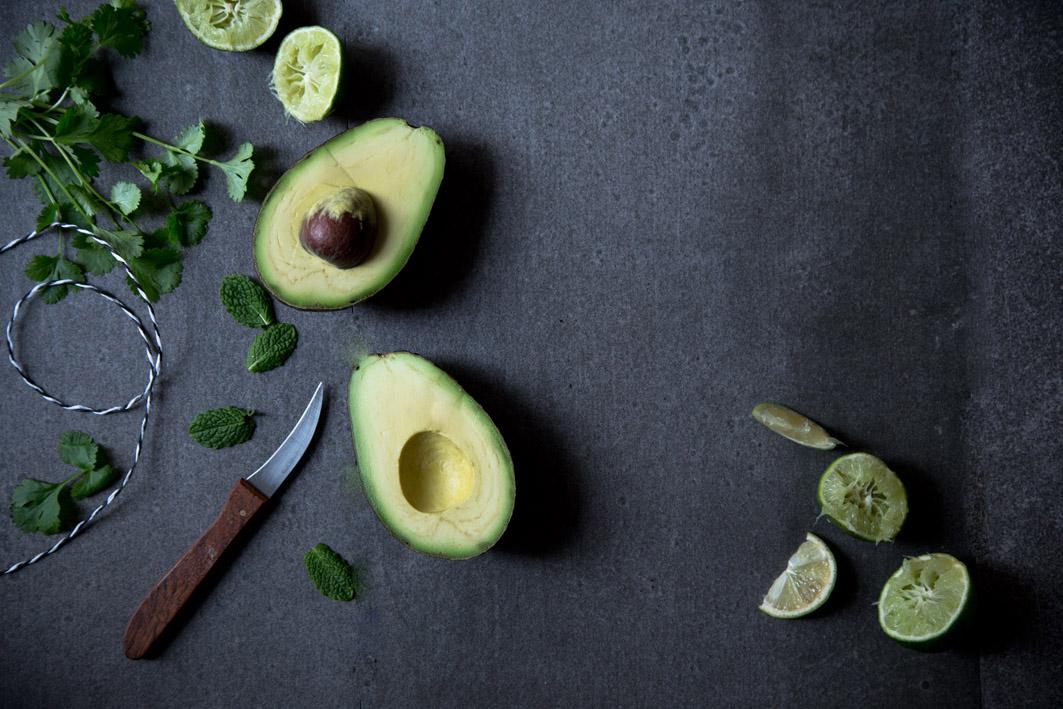 avocado und limette