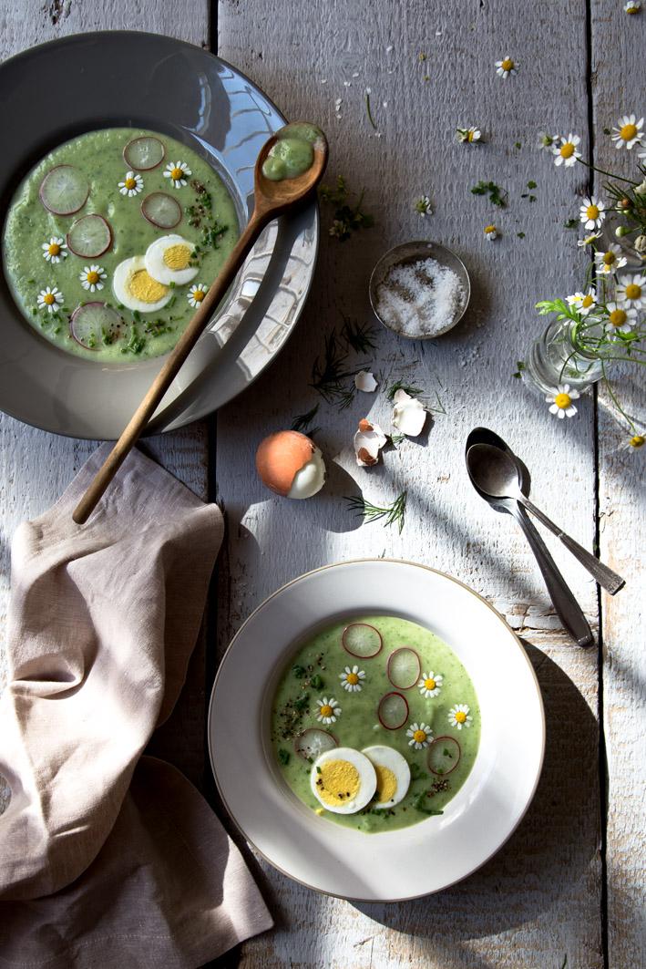 frühlingsrezept suppe mit kräutern