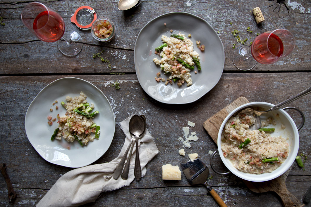 risotto rhabarber spargel