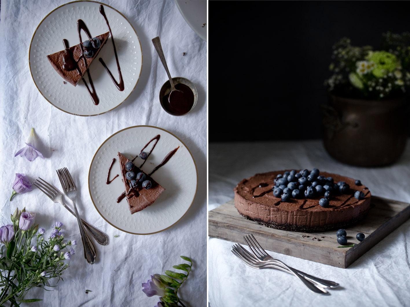 blaubeeren cheesecake