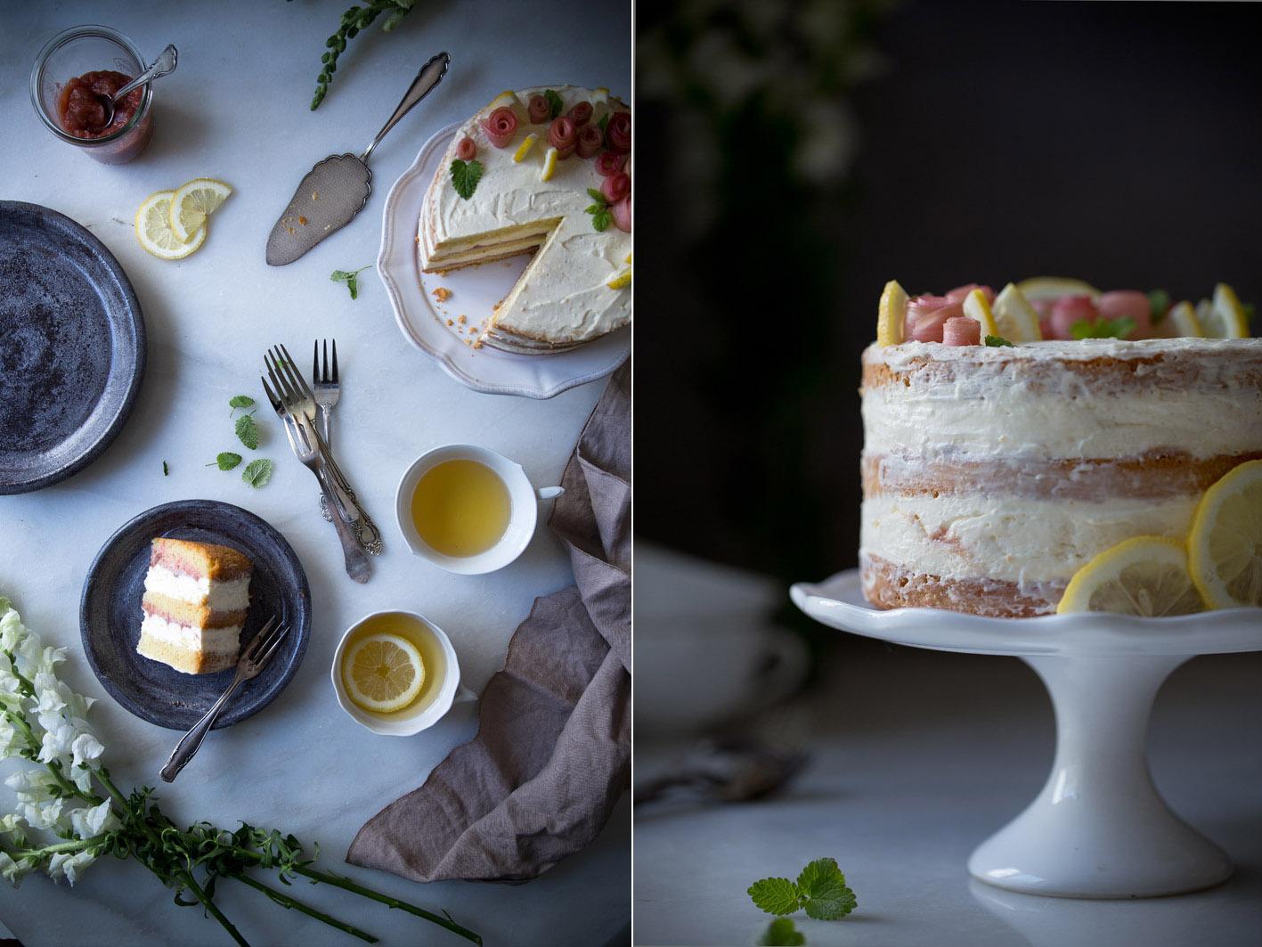 naked cake mit rhabarber foodlovin 39. Black Bedroom Furniture Sets. Home Design Ideas