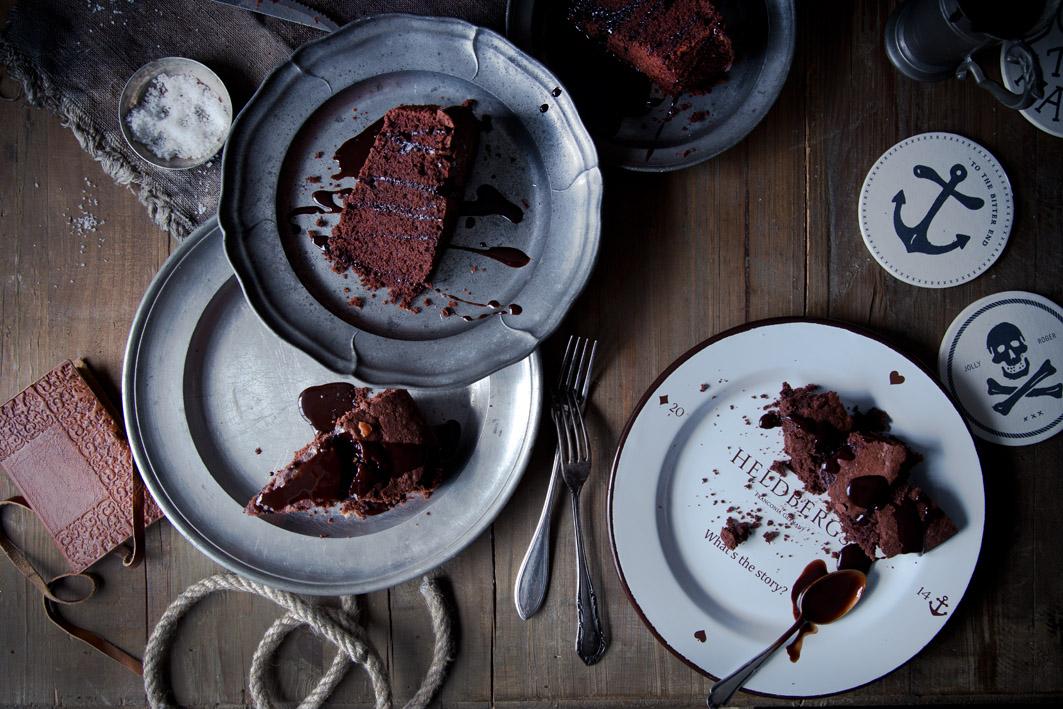 schokoladenkuchen mit bier