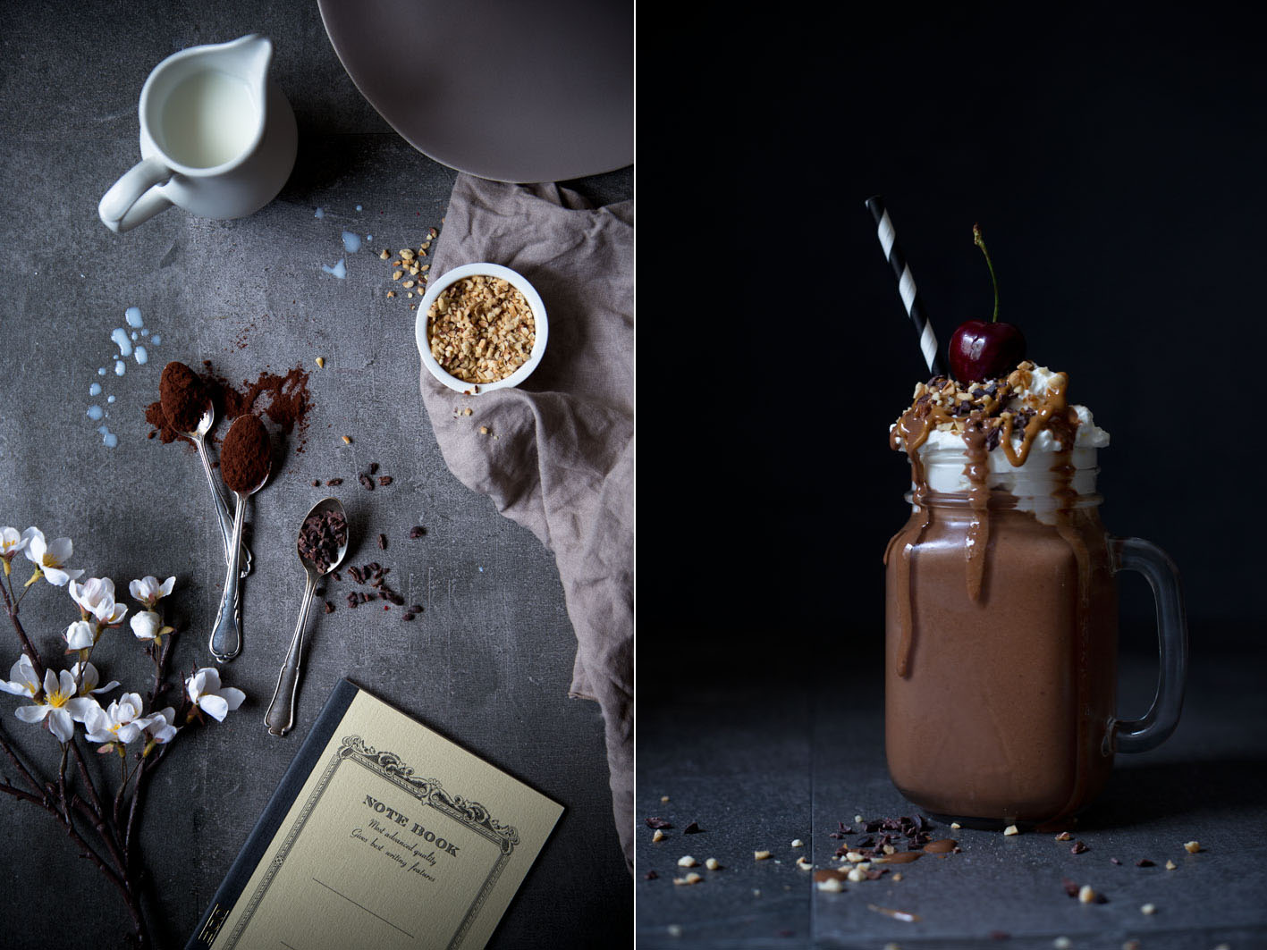 schokoladen protein smoothie