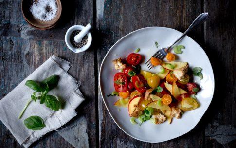 Panzanella – toskanischer Brotsalat, ein Sommer-Rezept.