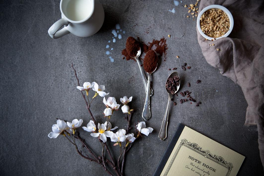 zutaten für schokoladen smoothie