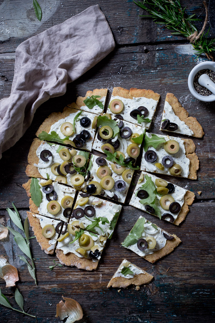 flammkuchen mit oliven