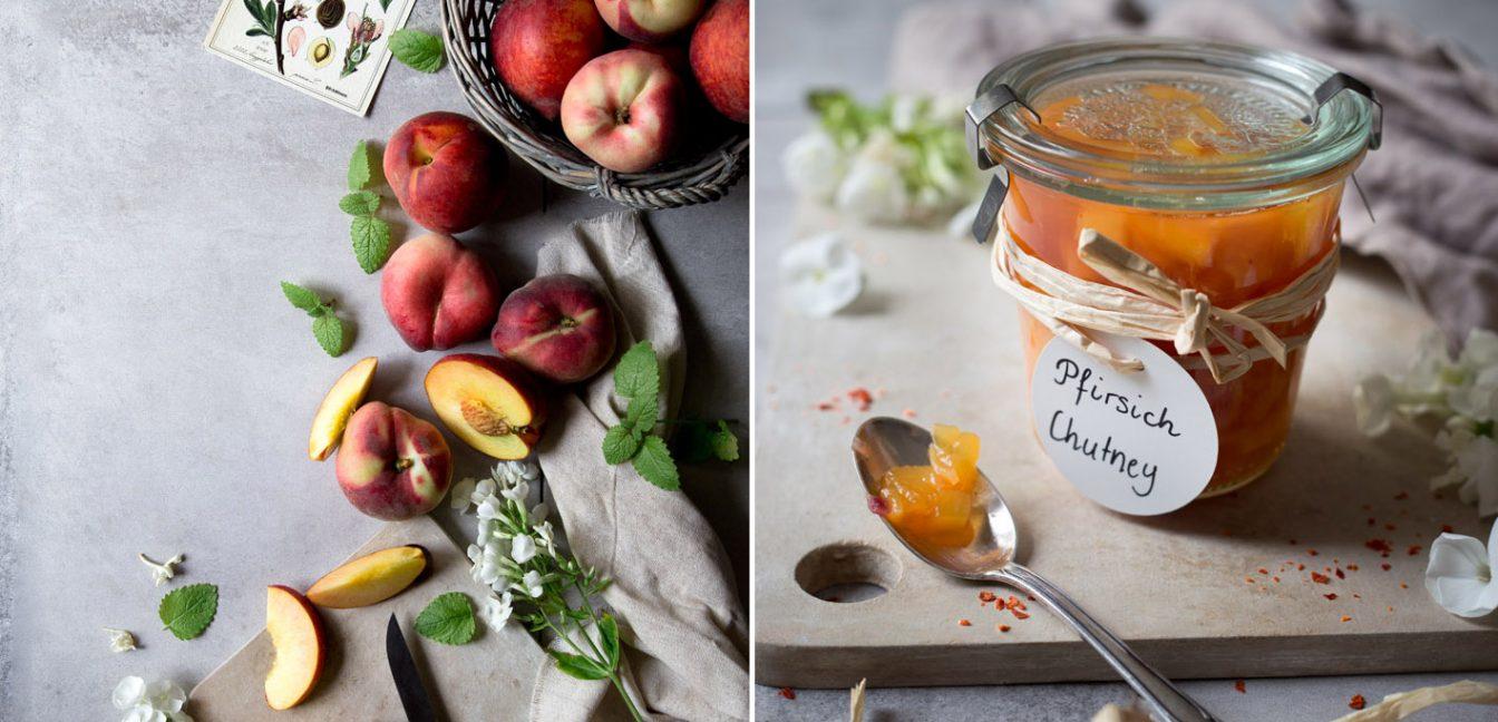 Fruchtiges Pfirsich-Chutney.