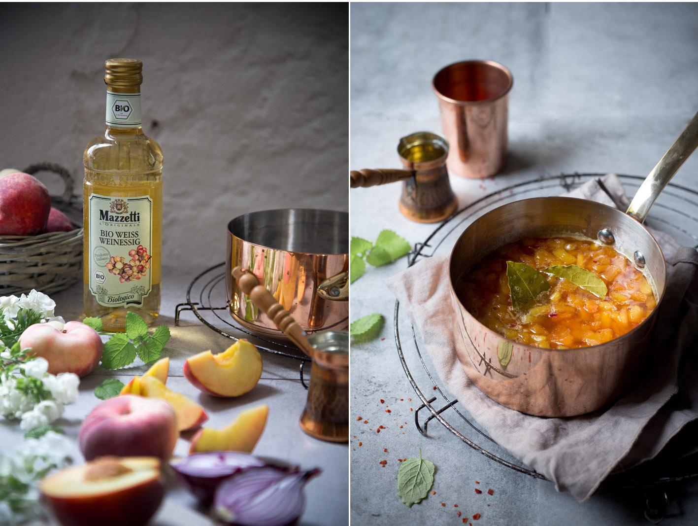 rezept für Pfirsich chutney
